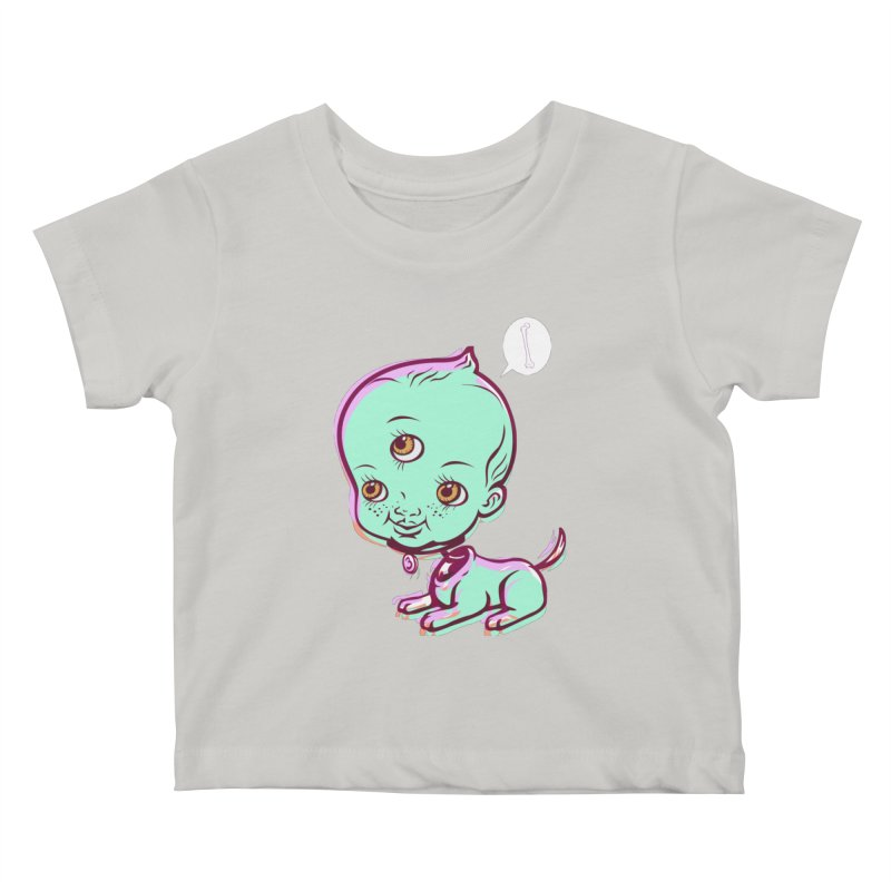 Puppy Kids Baby T-Shirt by monoestudio's Artist Shop