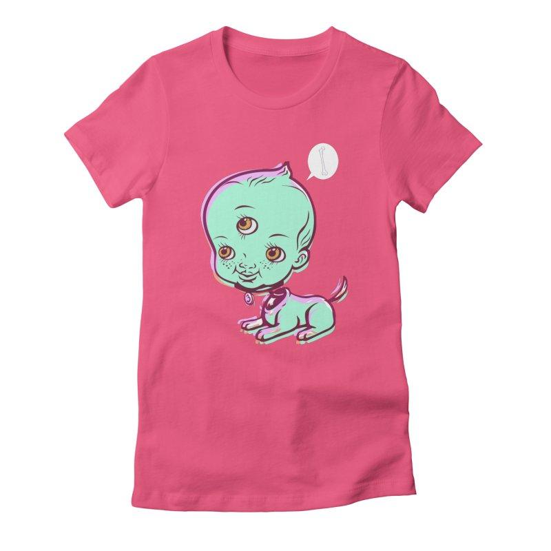 Puppy Women's T-Shirt by monoestudio's Artist Shop