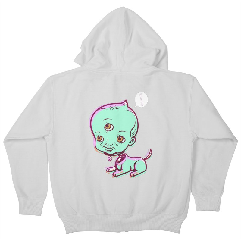 Puppy Kids Zip-Up Hoody by monoestudio's Artist Shop