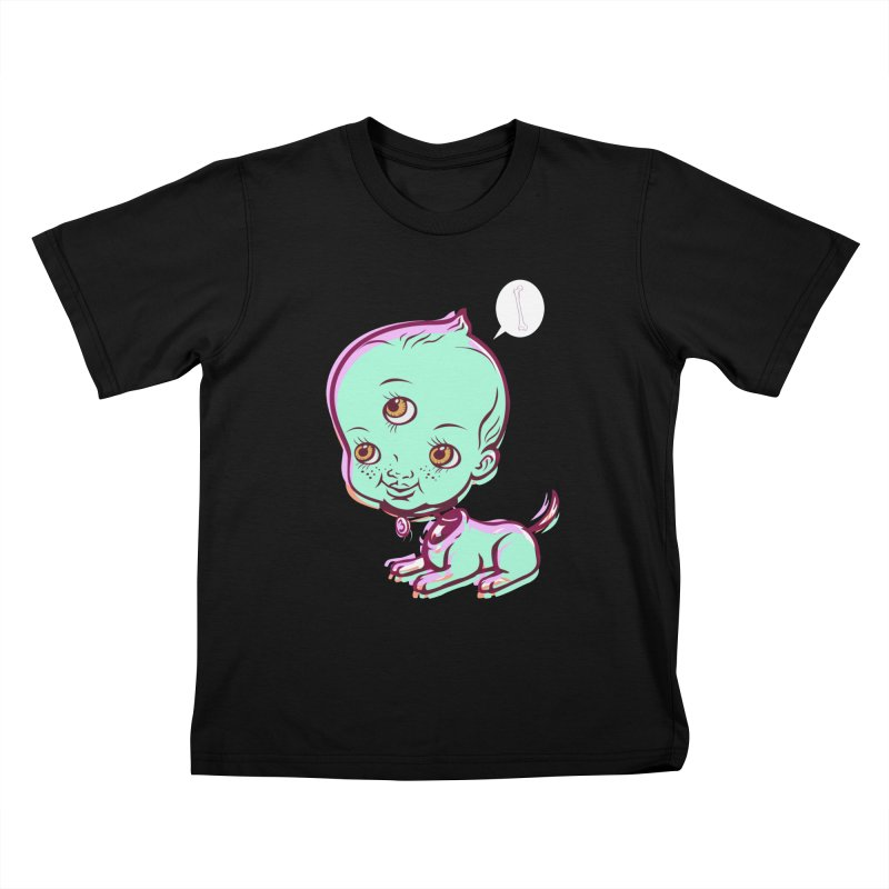 Puppy Kids T-Shirt by monoestudio's Artist Shop