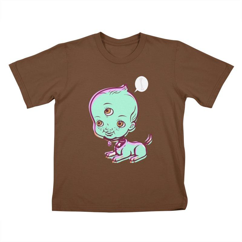 Puppy Kids T-Shirt by monoestudio's Artist Shop