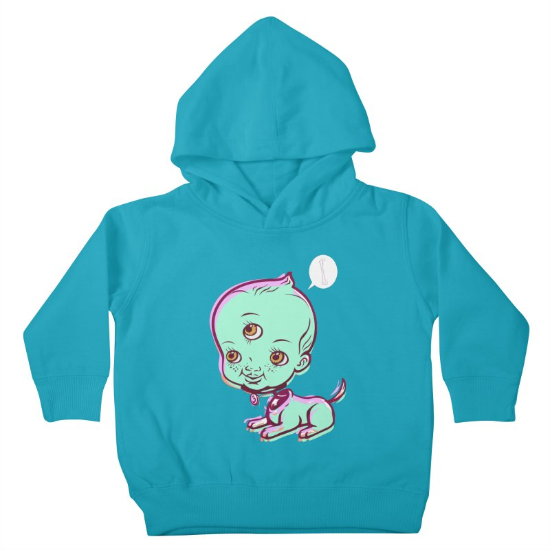 Puppy Kids Toddler Pullover Hoody by monoestudio's Artist Shop