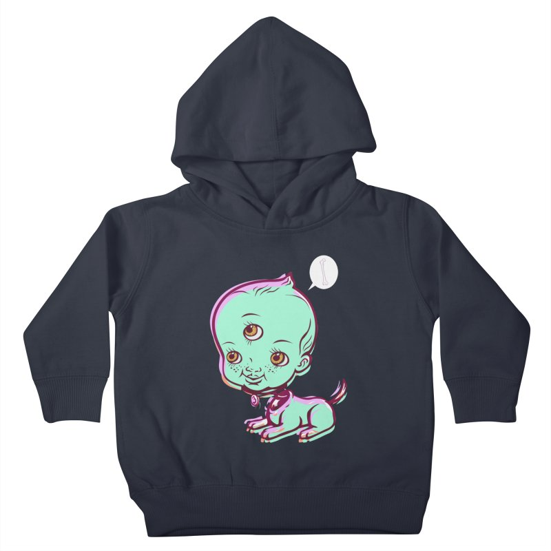 Puppy Kids Toddler Pullover Hoody by monoestudio's Artist Shop