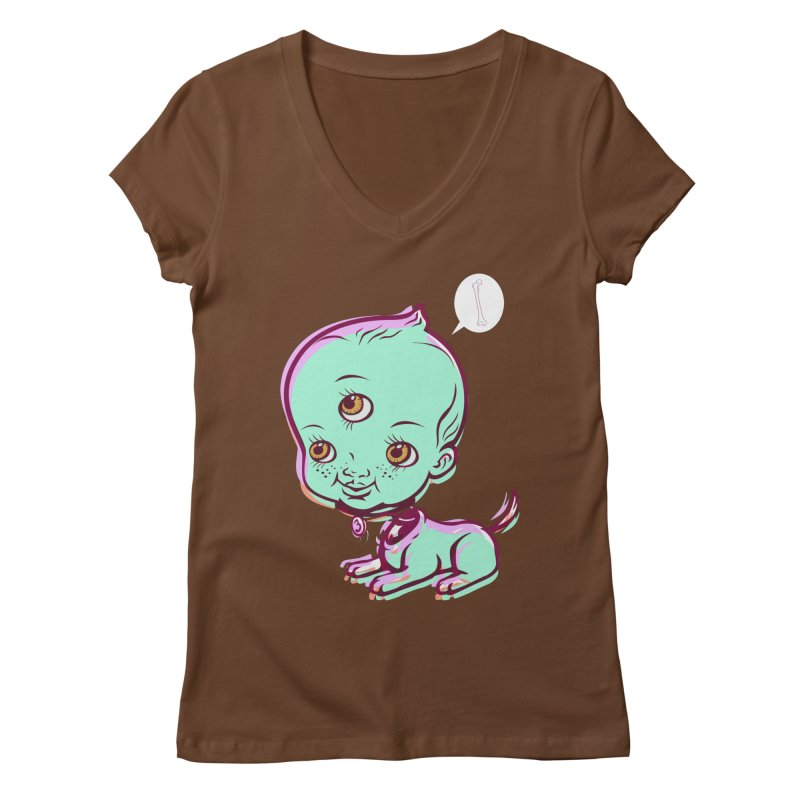 Puppy Women's V-Neck by monoestudio's Artist Shop