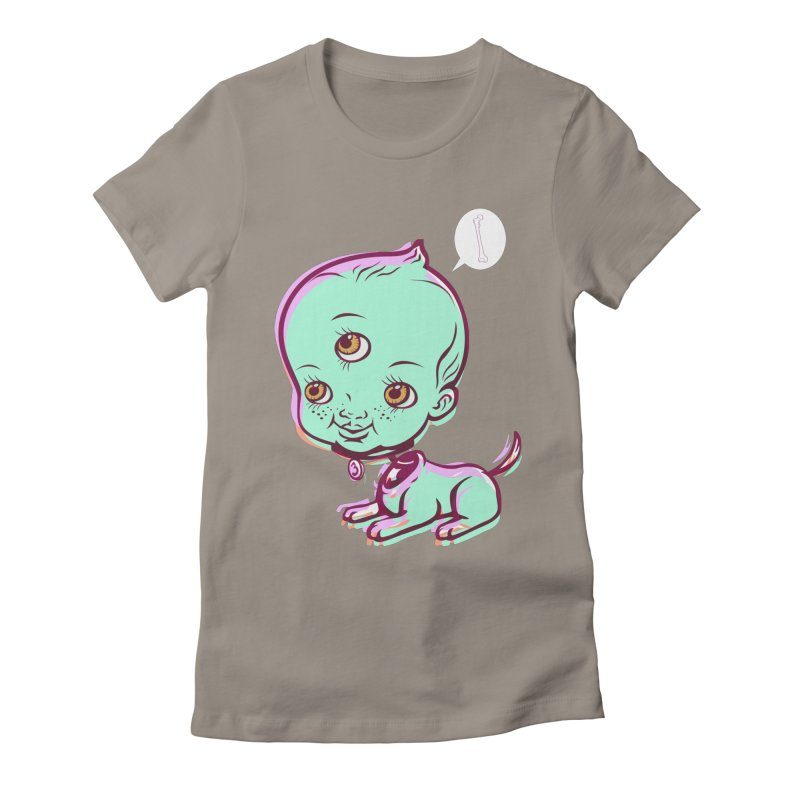 Puppy Women's Fitted T-Shirt by monoestudio's Artist Shop