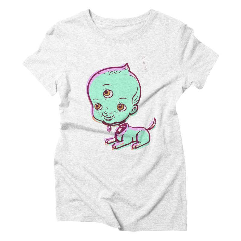 Puppy Women's Triblend T-shirt by monoestudio's Artist Shop