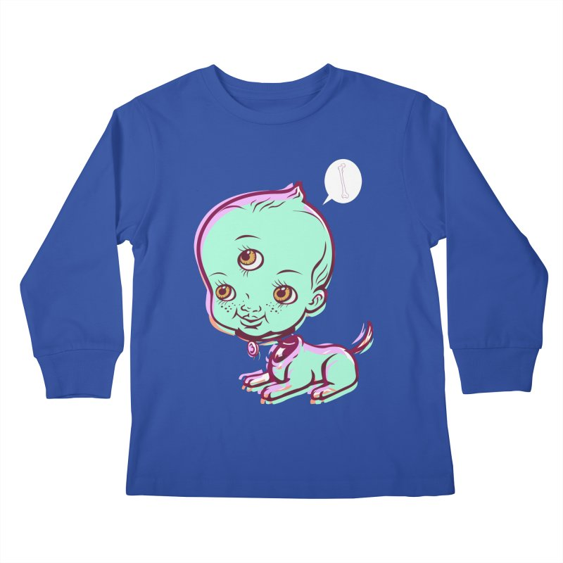 Puppy Kids Longsleeve T-Shirt by monoestudio's Artist Shop