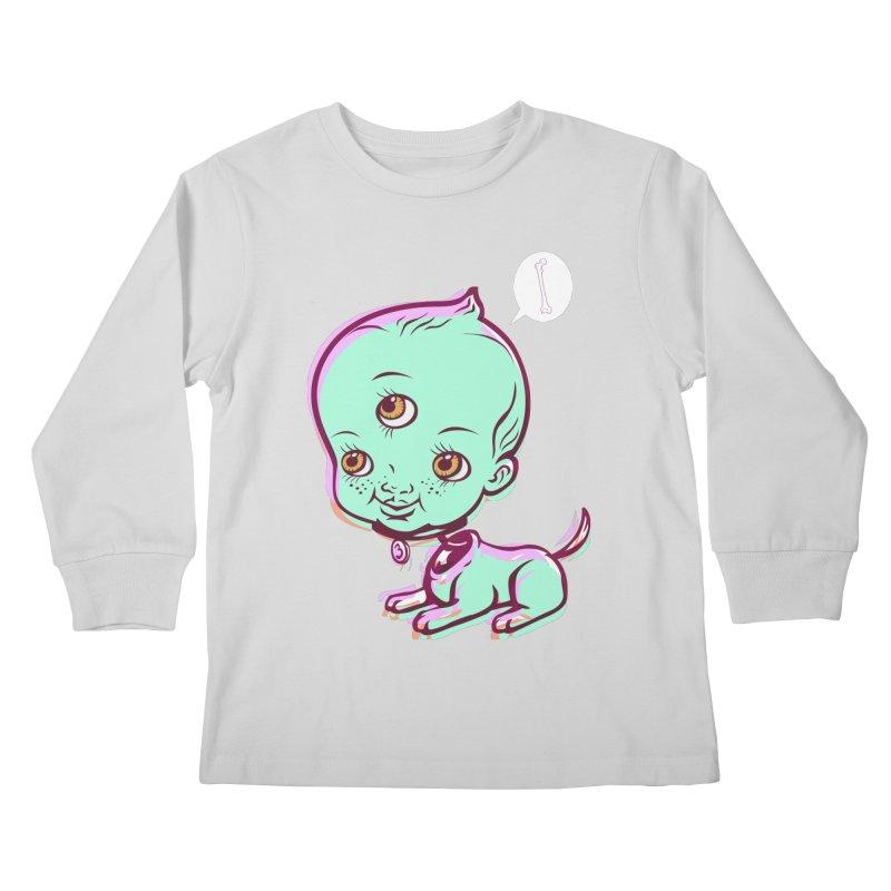 Puppy Kids Longsleeve T-Shirt by monoestudio's Artist Shop