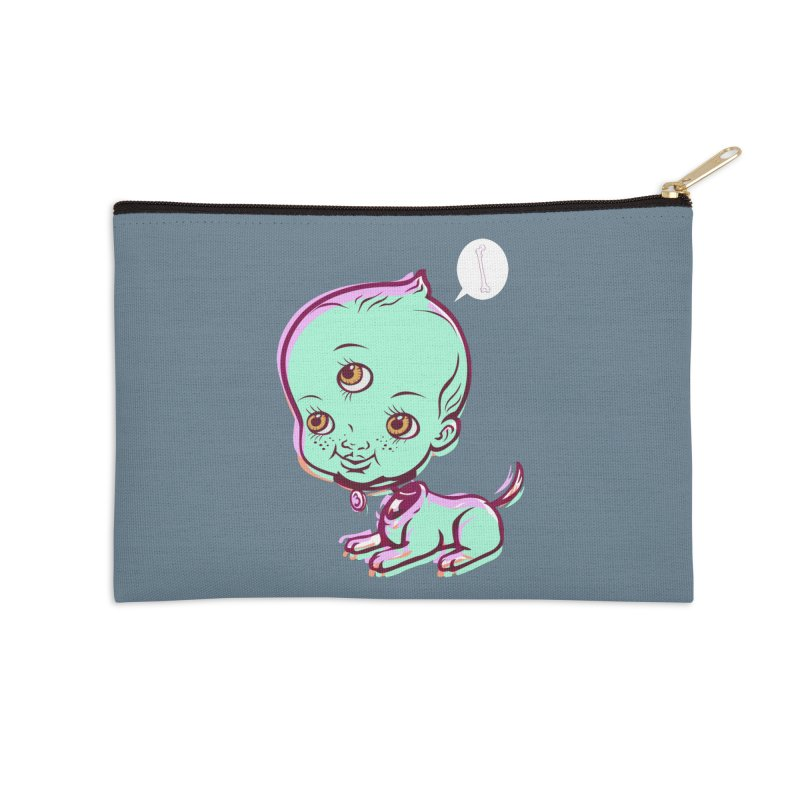 Puppy Accessories Zip Pouch by monoestudio's Artist Shop