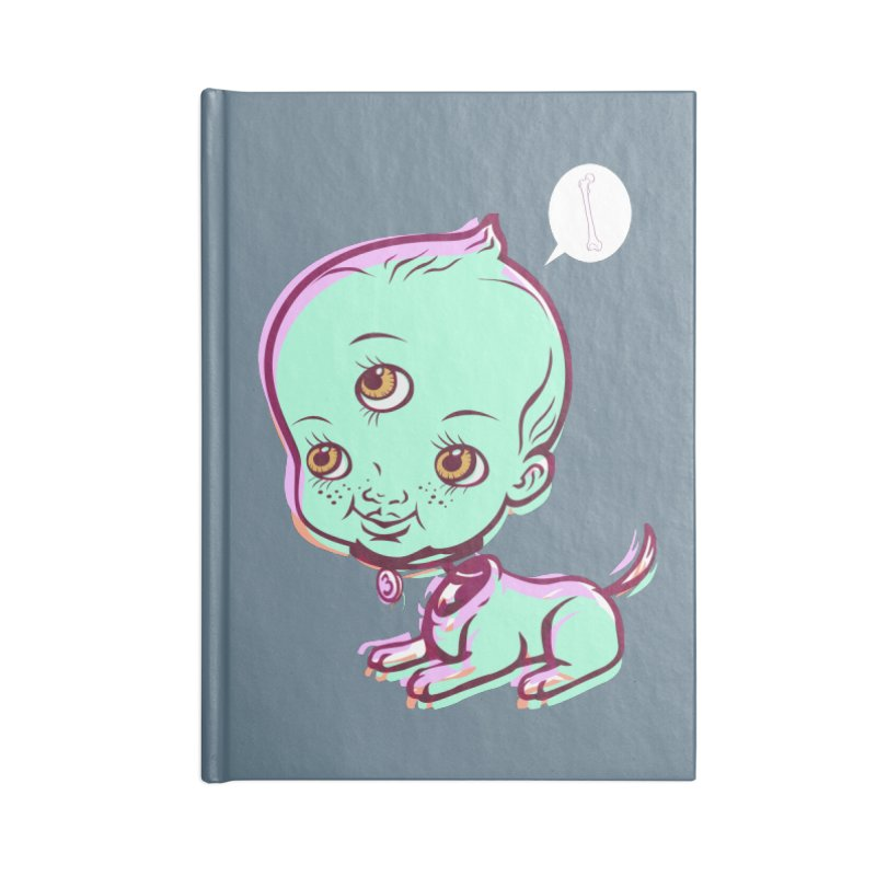 Puppy Accessories Blank Journal Notebook by monoestudio's Artist Shop