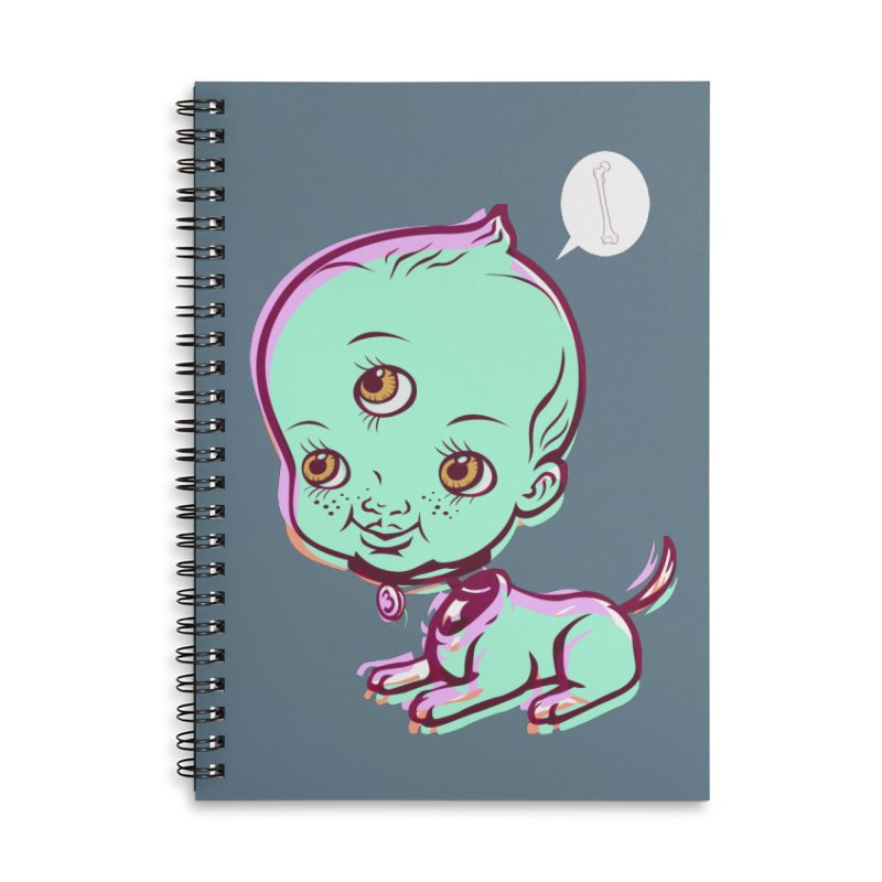 Puppy Accessories Lined Spiral Notebook by monoestudio's Artist Shop