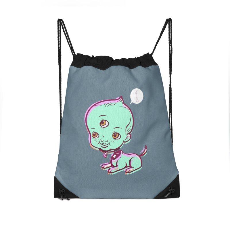 Puppy Accessories Drawstring Bag Bag by monoestudio's Artist Shop