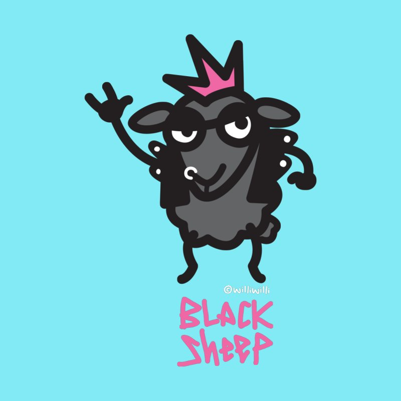 Black Sheep Women's T-Shirt by monoestudio's Artist Shop