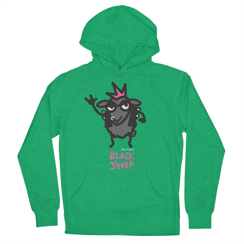 Black Sheep Men's French Terry Pullover Hoody by monoestudio's Artist Shop