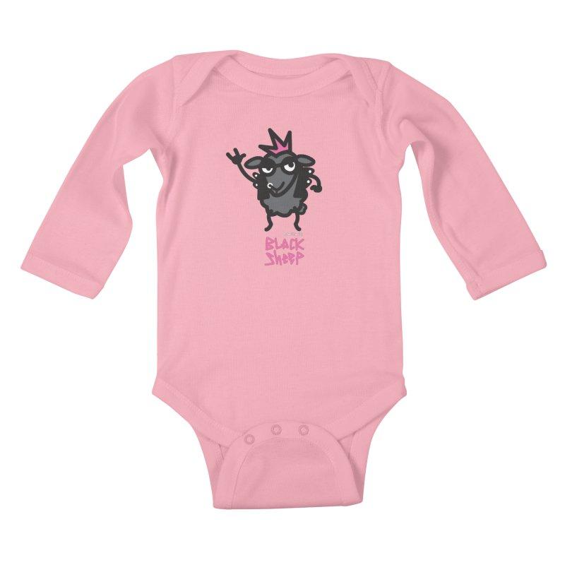 Black Sheep Kids Baby Longsleeve Bodysuit by monoestudio's Artist Shop