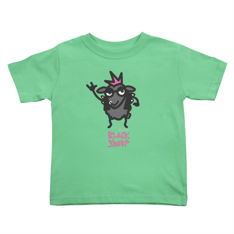 Black Sheep Kids Toddler T-Shirt by monoestudio's Artist Shop