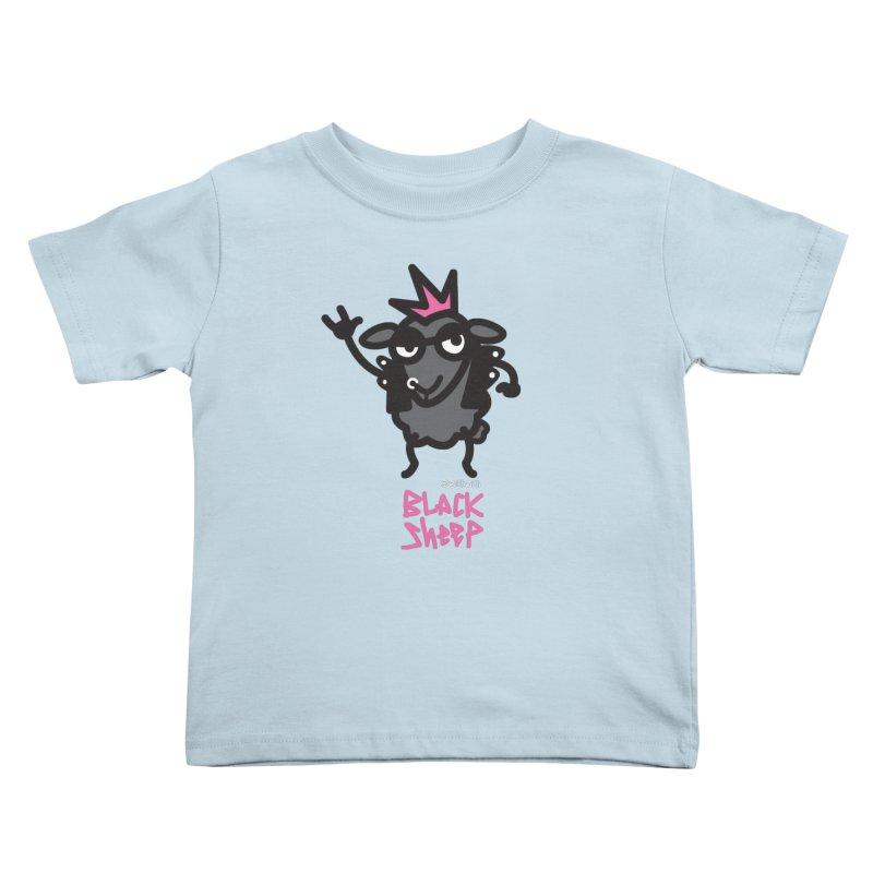 Black Sheep Kids Toddler T-Shirt by monoestudio's Artist Shop