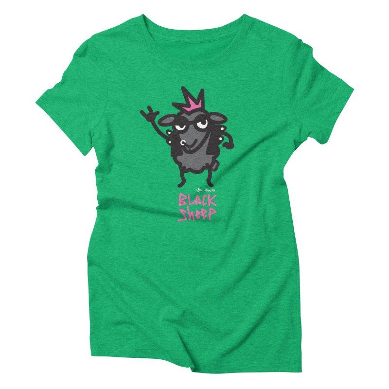 Black Sheep Women's T-Shirt by monoestudio's Artist Shop