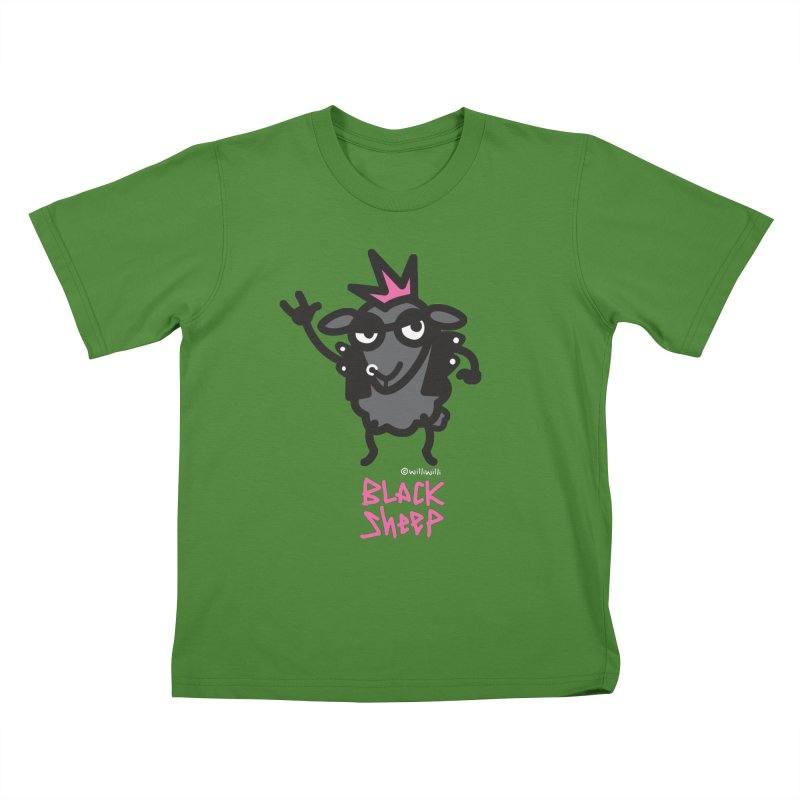 Black Sheep Kids T-Shirt by monoestudio's Artist Shop