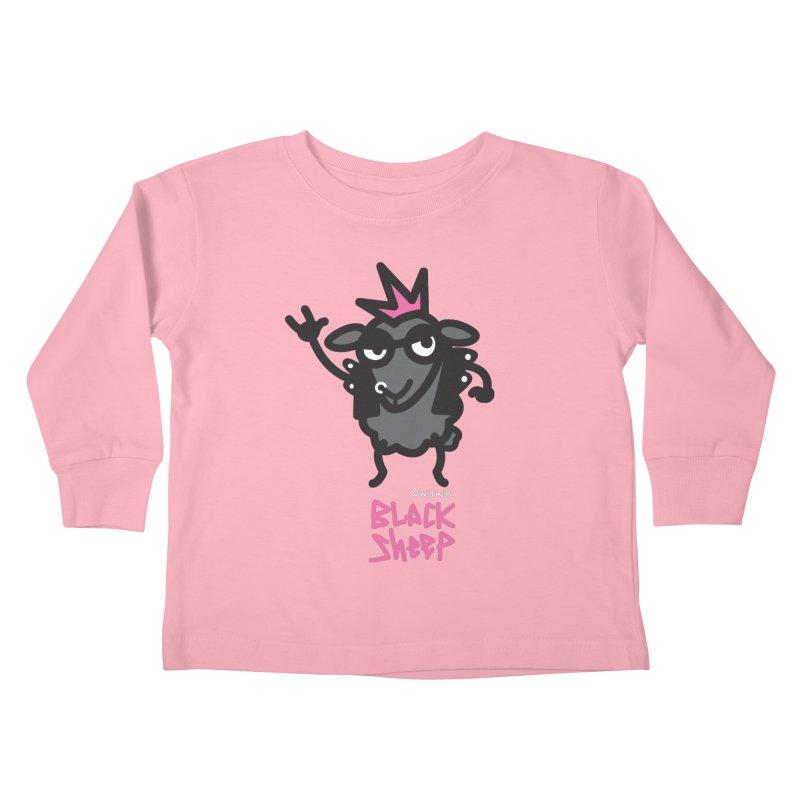 Black Sheep Kids Toddler Longsleeve T-Shirt by monoestudio's Artist Shop