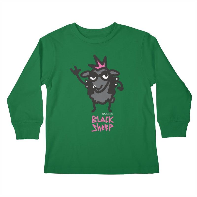Black Sheep Kids Longsleeve T-Shirt by monoestudio's Artist Shop