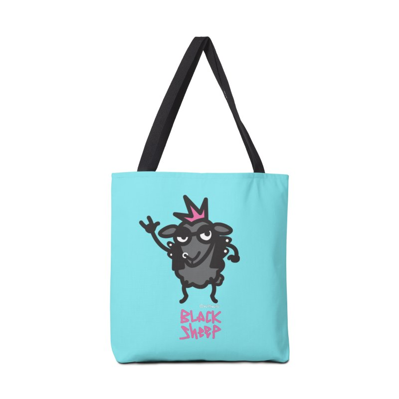 Black Sheep Accessories Tote Bag Bag by monoestudio's Artist Shop