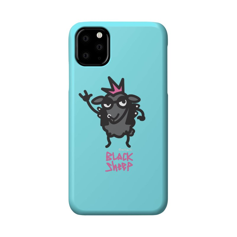 Black Sheep Accessories Phone Case by monoestudio's Artist Shop