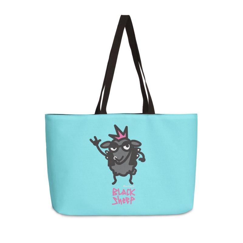 Black Sheep Accessories Weekender Bag Bag by monoestudio's Artist Shop