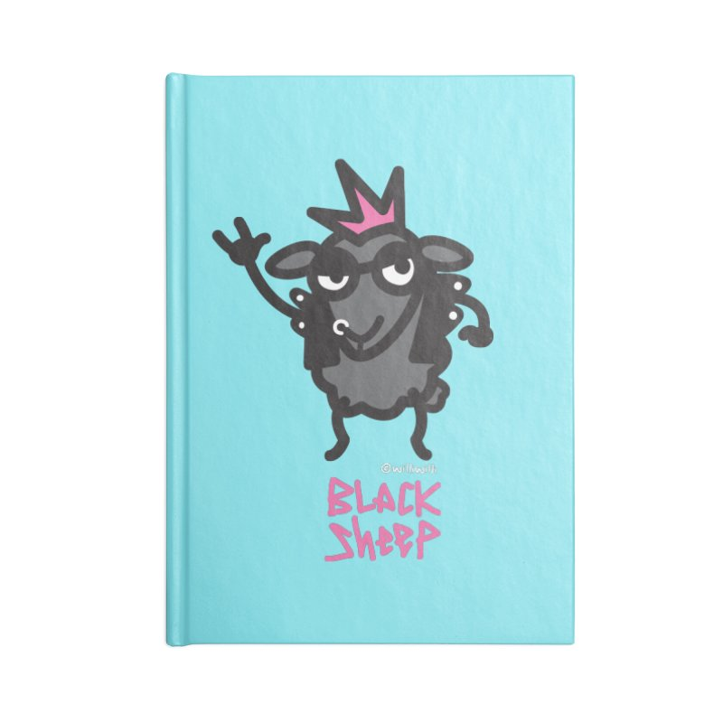 Black Sheep Accessories Lined Journal Notebook by monoestudio's Artist Shop