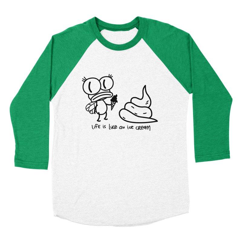 Fly Women's Baseball Triblend T-Shirt by monoestudio's Artist Shop