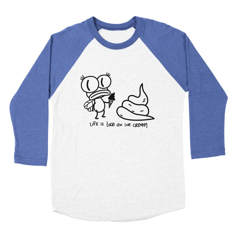 Fly Men's Baseball Triblend Longsleeve T-Shirt by monoestudio's Artist Shop