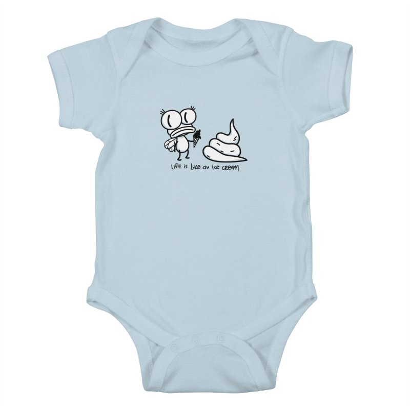 Fly Kids Baby Bodysuit by monoestudio's Artist Shop