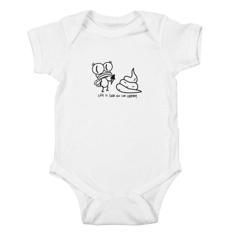 Fly Kids Baby Bodysuit by monoestudio's Artist Shop