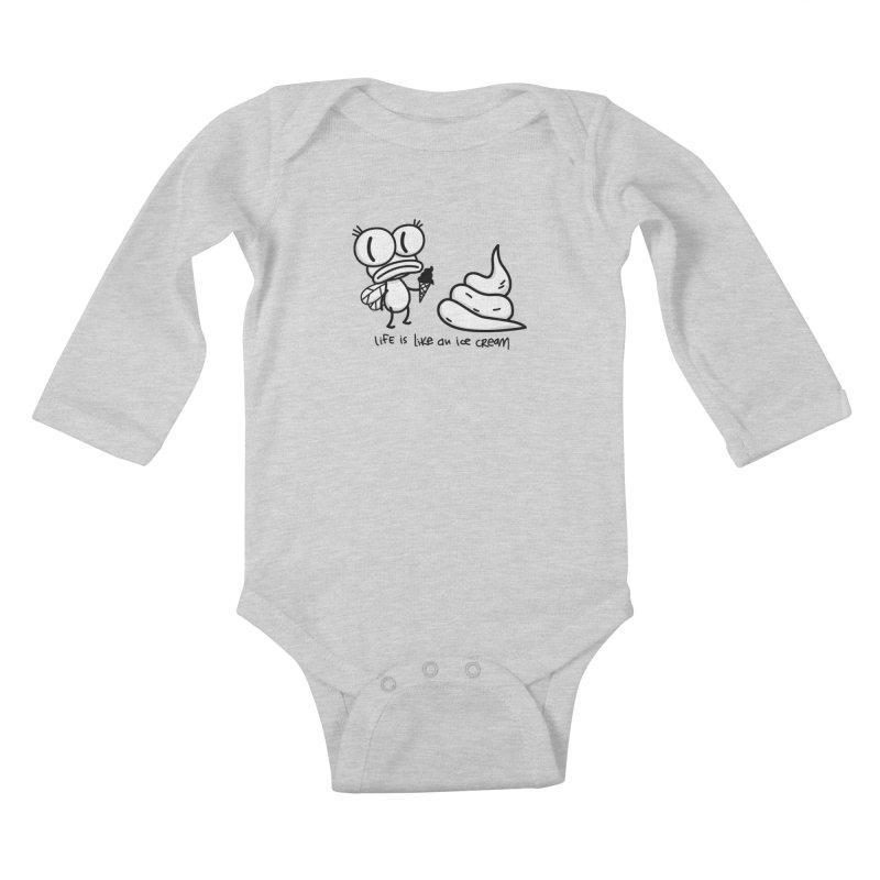Fly Kids Baby Longsleeve Bodysuit by monoestudio's Artist Shop