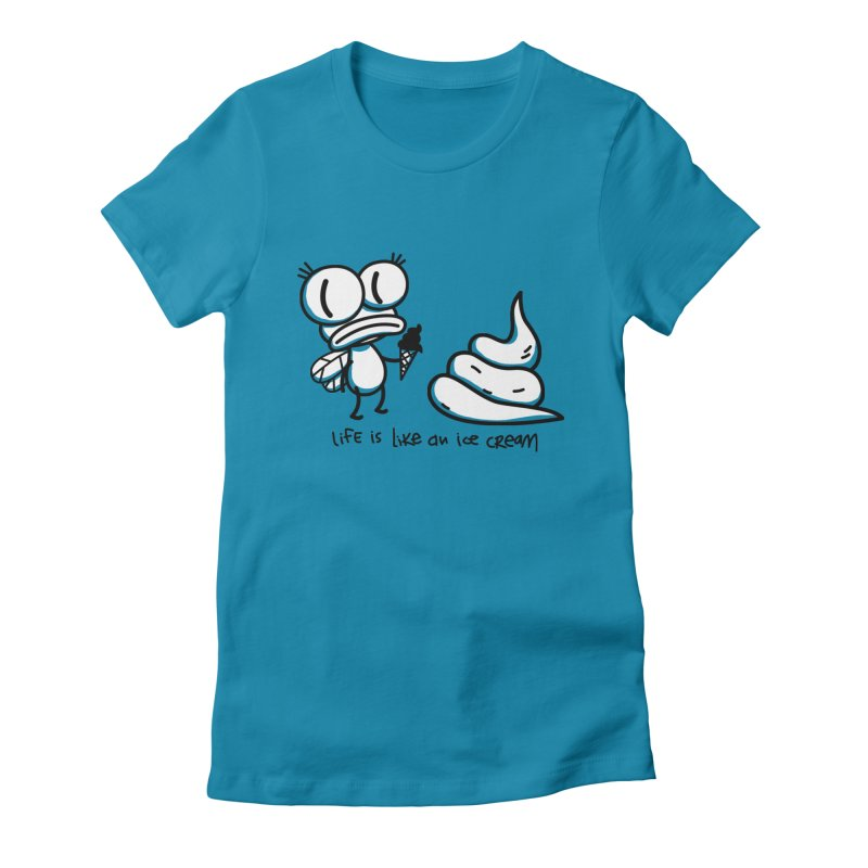 Fly Women's Fitted T-Shirt by monoestudio's Artist Shop