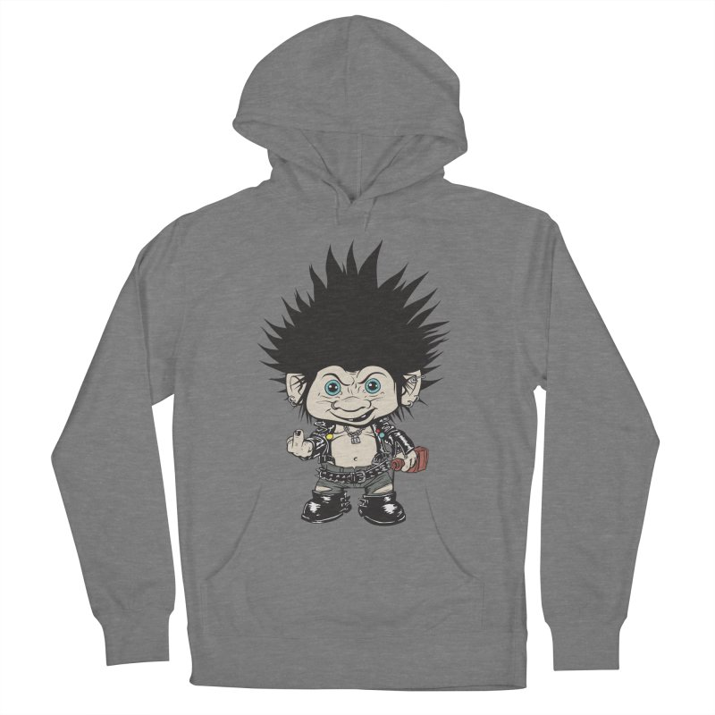 Troll Men's French Terry Pullover Hoody by monoestudio's Artist Shop