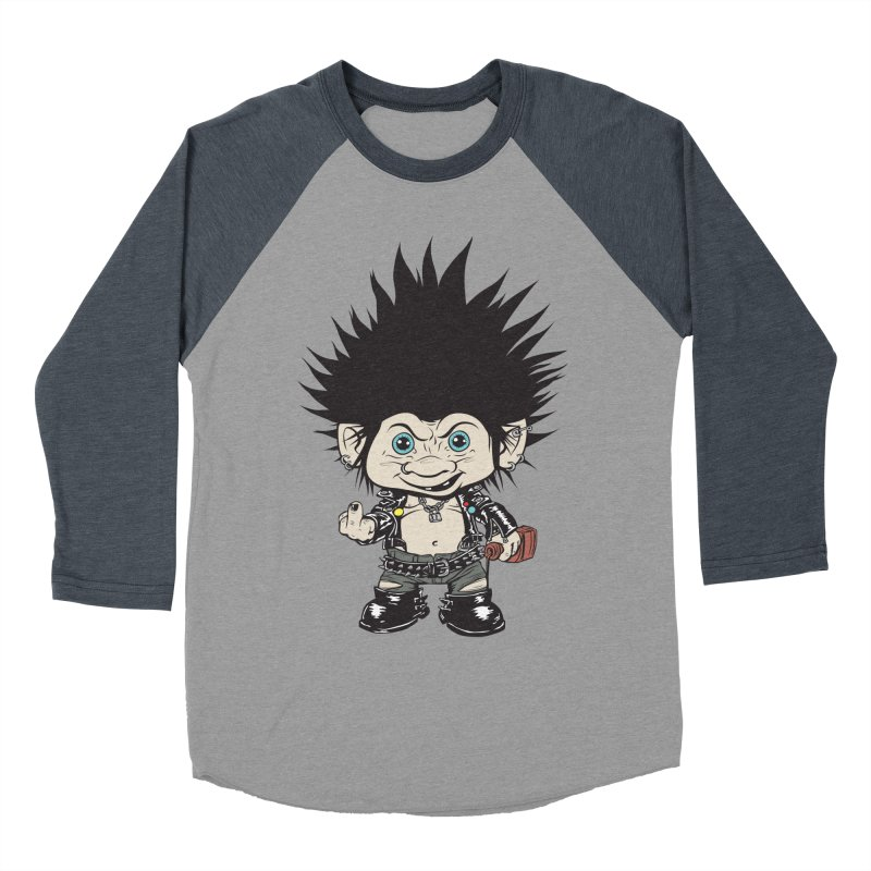 Troll Men's Baseball Triblend Longsleeve T-Shirt by monoestudio's Artist Shop