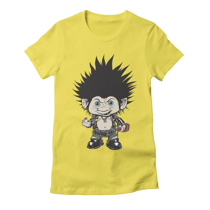 Troll Women's Fitted T-Shirt by monoestudio's Artist Shop