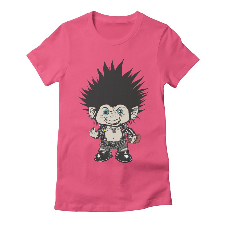 Troll Women's Fitted T-Shirt by monoestudio's Artist Shop