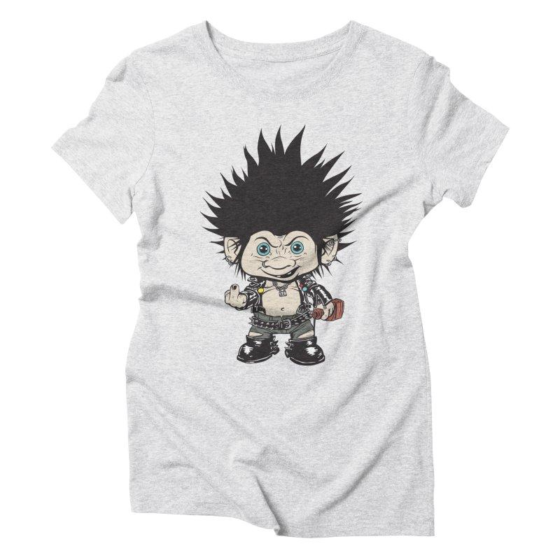 Troll Women's Triblend T-Shirt by monoestudio's Artist Shop