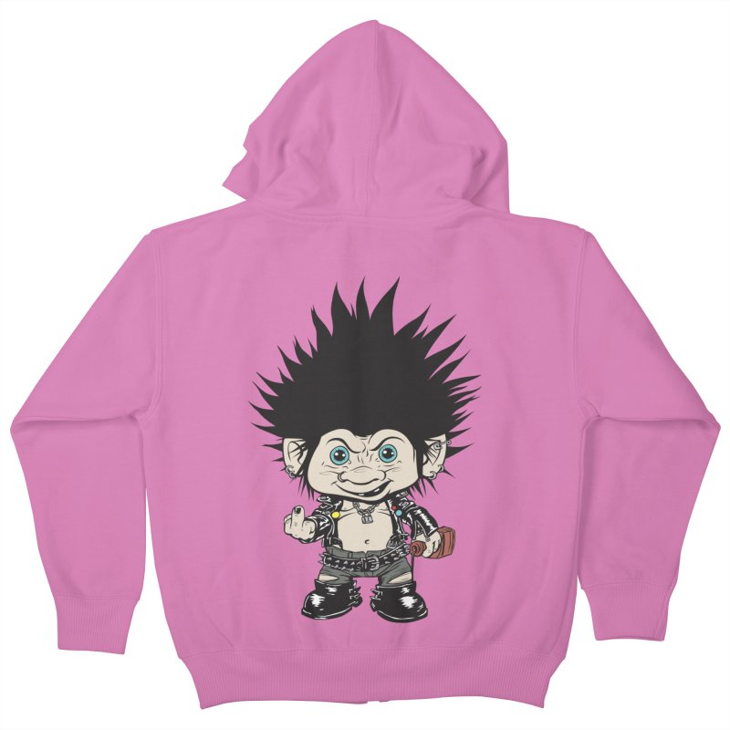 Troll Kids Zip-Up Hoody by monoestudio's Artist Shop