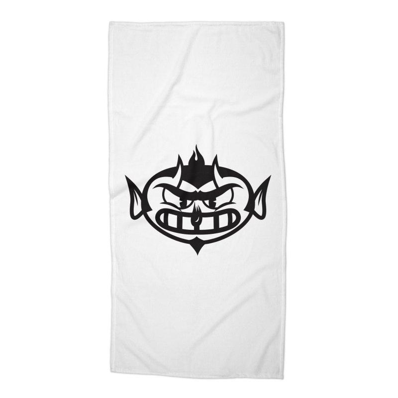 Diablo Accessories Beach Towel by monoestudio's Artist Shop