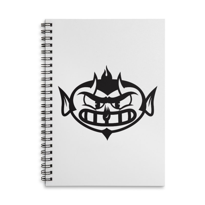 Diablo Accessories Lined Spiral Notebook by monoestudio's Artist Shop