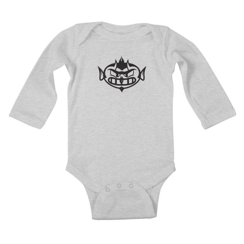 Diablo Kids Baby Longsleeve Bodysuit by monoestudio's Artist Shop
