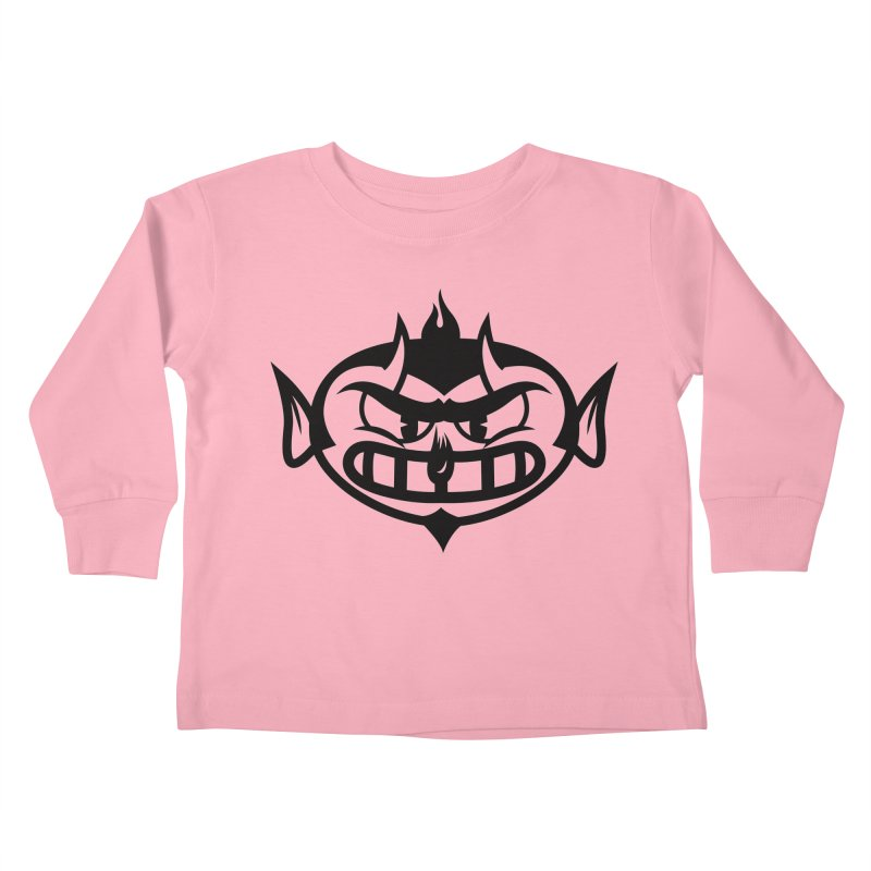 Diablo Kids Toddler Longsleeve T-Shirt by monoestudio's Artist Shop