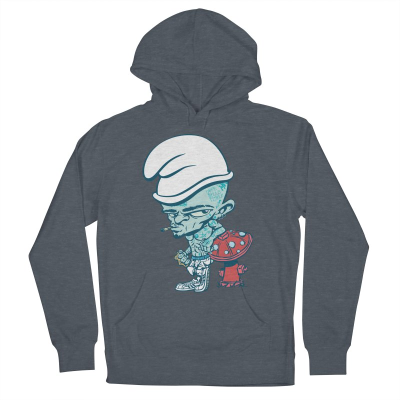 Smurf Women's French Terry Pullover Hoody by monoestudio's Artist Shop