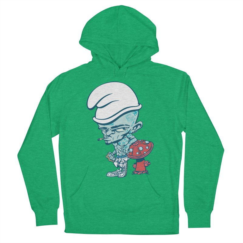 Smurf Men's French Terry Pullover Hoody by monoestudio's Artist Shop