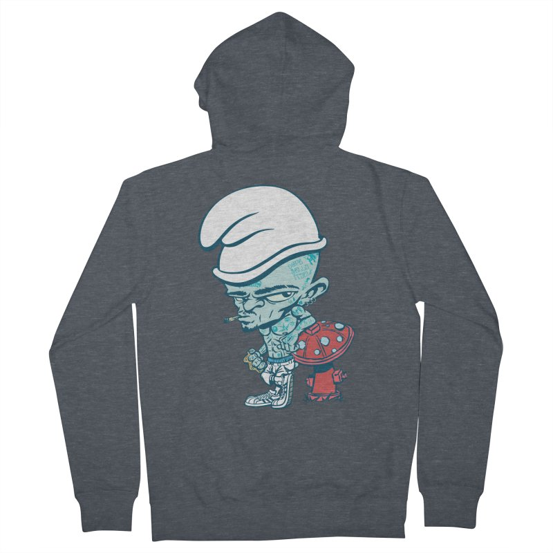 Smurf Women's French Terry Zip-Up Hoody by monoestudio's Artist Shop
