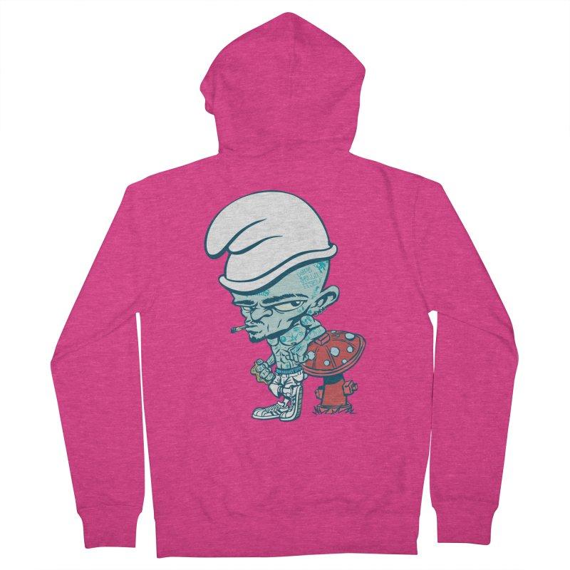 Smurf Women's French Terry Zip-Up Hoody by monoestudio's Artist Shop