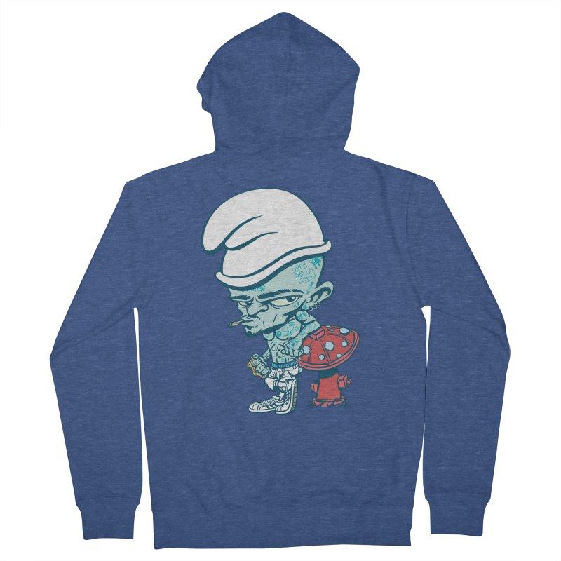 Smurf Men's French Terry Zip-Up Hoody by monoestudio's Artist Shop
